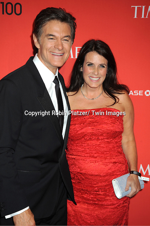Dr Mehmet Oz and wife Lisa Oz attends The Time 100 Most Influential People in the World Gala on April 24, 2012 at Frederick P Rose Hall at Lincoln Center in New York City. .
