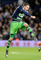 Gylfi Sigurdsson of Swansea City during the Barclays Premier League match between West Bromwich Albion and Swansea City at The Hawthorns on the 2nd of February 2016