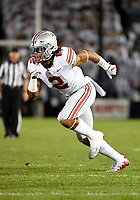 STATE COLLEGE, PA - SEPTEMBER 29: Ohio State DE Chase Young (2) rushes the quarterback. The Ohio State Buckeyes defeated the Penn State Nittany Lions 27-26 on September 29, 2018 at Beaver Stadium in State College, PA. (Photo by Randy Litzinger/Icon Sportswire)