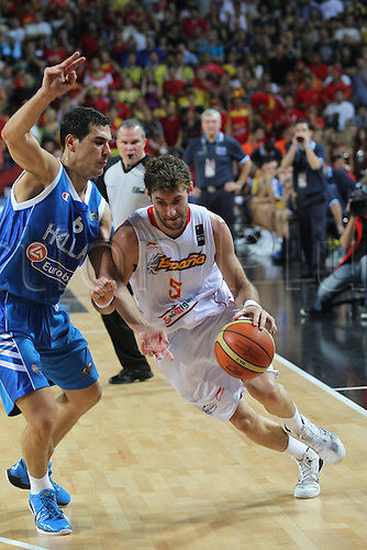 04.09.2010 Turkey, Istanbul. Basketball World Championships Spain v Greece. Picture shows RUDY FERNANDEZ