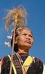 Woman in traditional ceremonial dress, Luba Village, near Bajawa, Flores, East Nusa Tenggara, Indonesia