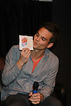 "The Young & The Restless star Greg Rikaart kisses band new baby Charlotte (Granddaughter of Joyce Becker) as he appears at the Genoa City Conversations (Q&A) which was held on 3/24 at the Soap Opera Festivals Weekend - ""All About The Drama"" on March 24, 2012 at Bally's Atlantic City, Atlantic City, New Jersey. (Photo by Sue Coflin/Max Photos)"