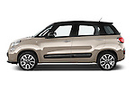 Car driver side profile view of a 2014 Fiat 500L Lounge 5 Door MPV
