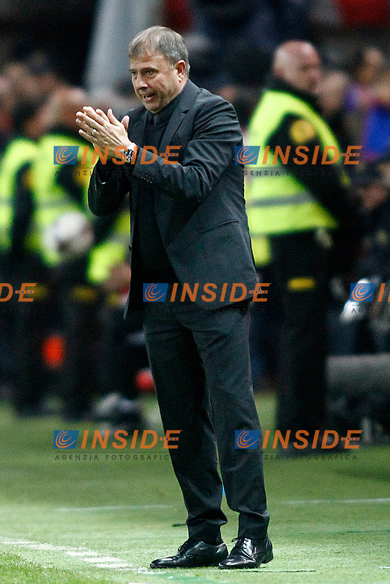 Israel's coach Elisha Levy during FIFA World Cup 2018 Qualifying Round match. <br /> Gijon 24-03-2017 Stadio El Molinon <br /> Qualificazioni Mondiali <br /> Spagna - Israele <br /> Foto Acero/Alterphotos/Insidefoto <br /> ITALY ONLY