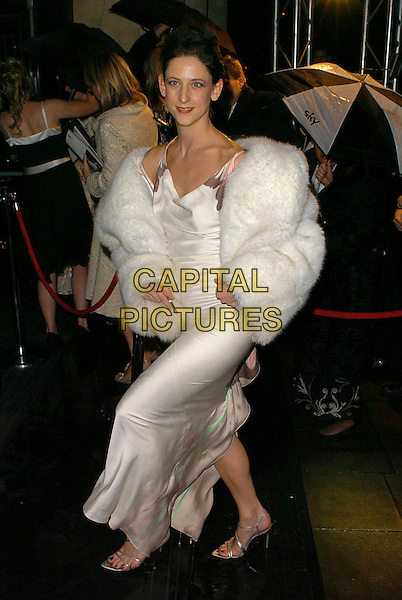 MARIA GRACHVOGEL.The Orange British Academy Film Awards aftershow & Grosvenor House Hotel, London, UK..February 19th, 2006.Ref: CAN.full length white dress fur jacket.www.capitalpictures.com.sales@capitalpictures.com.© Capital Pictures.