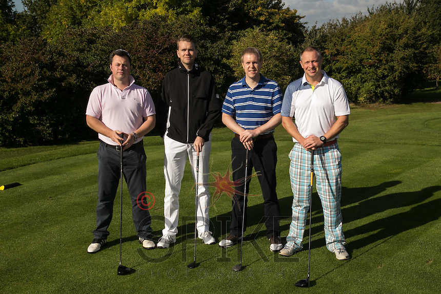 This dapper team are Turner & Townsend, from left, David Parsons, Tom Wallbank, Rob Garton and Mark Deakin