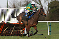 Saves Time ridden by A P McCoy in action during the Connolly's Red Mills Horsefeed National Hunt Novices' Handicap Hurdle