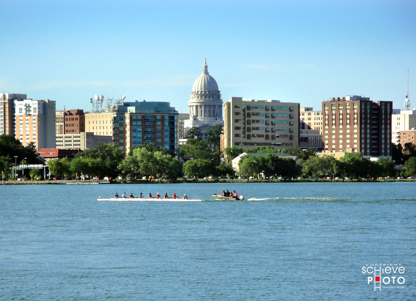 Crew gets a workout on Madison, Wisconsin's Lake Monona.