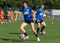 Kansas City, MO - Sunday July 02, 2017:  Erika Tymrak and Maegan Kelly during warm up before a regular season National Women's Soccer League (NWSL) match between FC Kansas City and the Houston Dash at Children's Mercy Victory Field.