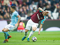 West Ham's Marko Arnautovic during the EPL - Premier League match between West Ham United and Manchester City at the Olympic Park, London, England on 29 April 2018. Photo by Andrew Aleksiejczuk / PRiME Media Images.