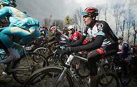 Ronde van Vlaanderen 2013..Grégory Rast (CHE) up the Molenberg