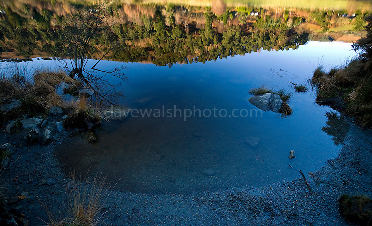 Reflections in the Lower Lake at Glendalough
