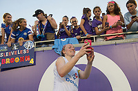 Orlando, FL - Saturday Sept. 24, 2016: Becky Sauerbrunn after a regular season National Women's Soccer League (NWSL) match between the Orlando Pride and FC Kansas City at Camping World Stadium.