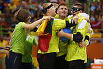 Lithuania team group (LTU),<br /> SEPTEMBER 16, 2016 - Goalball : <br /> Men's Final match between Lithuania 14-8 USA<br /> at Future Arena<br /> during the Rio 2016 Paralympic Games in Rio de Janeiro, Brazil.<br /> (Photo by Shingo Ito/AFLO)
