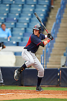 Vinnie Pasquantino (7) of James River High School in Moseley, Virginia playing for the Cleveland Indians scout team during the East Coast Pro Showcase on July 28, 2015 at George M. Steinbrenner Field in Tampa, Florida.  (Mike Janes/Four Seam Images)