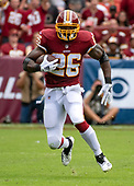 Washington Redskins running back Adrian Peterson (26) carries the ball in the second quarter against the Indianapolis Colts at FedEx Field in Landover, Maryland on Sunday, September 16, 2018.<br /> Credit: Ron Sachs / CNP