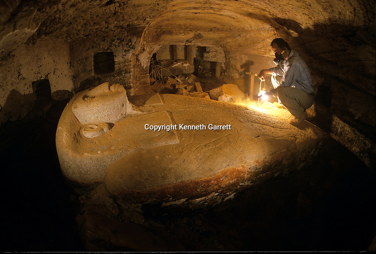 Egypt, Late Period, Greco-Roman, Bahariya Oasis, Tomb, Djed Khonsu Euf Anhk