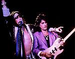 Aerosmith performing in 1986. Steven Tyler, Joe Perry