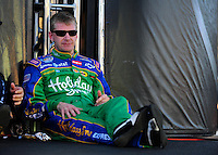 Apr 11, 2008; Avondale, AZ, USA; NASCAR Nationwide Series driver Jeff Burton during the Bashas Supermarkets 200 at the Phoenix International Raceway. Mandatory Credit: Mark J. Rebilas-