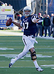 Photos from Nevada Wolf Pack vs BYU Cougars football game played at Mackay Stadium on Saturday afternoon, November 30, 2013 in Reno, Nevada.  #17 quarterback Cody Fajardo
