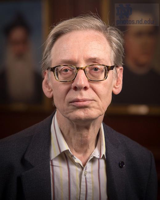 April 12, 2017; Stephen Gersh, Emeritus faculty portrait (Photo by Matt Cashore/University of Notre Dame)