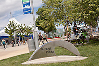 The Rivard Plaza is seen in Detroit (Mi) Saturday June 8, 2013. Located by the River Walk, Rivard Plaza features a covered seating, a carousel, concessions and bike rentals.