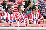 Atletico de Madrid's supporters during La Liga match between Atletico de Madrid and Malaga CF at Wanda Metropolitano in Madrid, Spain September 16, 2017. (ALTERPHOTOS/Borja B.Hojas)