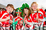 Saint Pats Blennerville  at Tralee Saint Patrick's day parade on Tuesday from left: Oisin Gallagher, Orlaith Murphy, Keelin Enright Sorcha O'Donoghue.