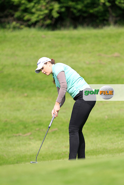 Olivia Mehaffey (RCD Ladies) on the 6th green during Round 1 of the Irish Women's Open Strokeplay Championship at Dun Laoghaire Golf Club on Saturday 23rd May 2015.<br /> Picture:  Thos Caffrey / www.golffile.ie