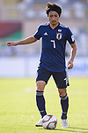 Shibasaki Gaku of Japan runs with the ball during the AFC Asian Cup UAE 2019 Group F match between Japan (JPN) and Turkmenistan (TKM) at Al Nahyan Stadium on 09 January 2019 in Abu Dhabi, United Arab Emirates. Photo by Marcio Rodrigo Machado / Power Sport Images
