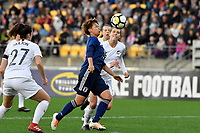 Japan&rsquo;s Mina Tanaka in action during the  International Football - Football Ferns v Japan  at Westpac Stadium, Wellington, New Zealand on Sunday 10 June 2018.<br /> Photo by Masanori Udagawa. <br /> www.photowellington.photoshelter.com