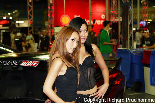 The girls of the SCP 2008 Sport Compact Performance show held at the Montreal Olympic  Stadium on October 17-18-19  2008