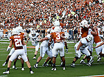 Brigham Young Cougars kicker Justin Sorensen (37) in action during the game between the Brigham Young Cougars and the Texas Longhorns at the Darrell K Royal - Texas Memorial Stadium in Austin, Texas. Texas defeats Brigham Young 17 to 16...