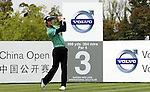 SUZHOU, CHINA - APRIL 17:  Kim do-hoon of Korea tees off on the 3rd hole during the Round Three of the Volvo China Open on April 17, 2010 in Suzhou, China. Photo by Victor Fraile / The Power of Sport Images