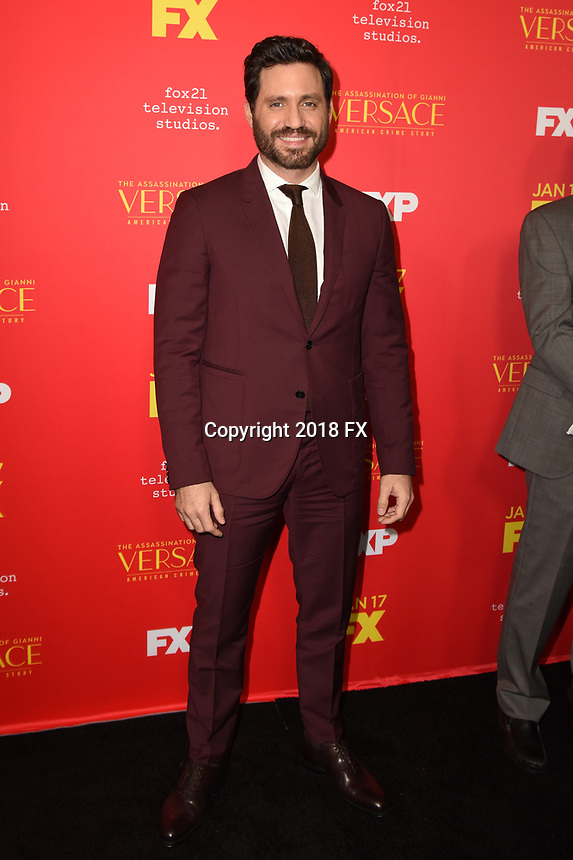 "HOLLYWOOD - JANUARY 8: Edgar Ramirez attends the Red Carpet Premiere Event for FX's ""The Assassination of Gianni Versace: American Crime Story"" at ArcLight Hollywood on January 8, 2018, in Hollywood, California. (Photo by Scott Kirkland/FX/PictureGroup)"