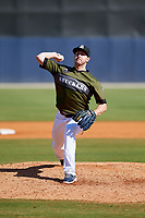 Biloxi Shuckers relief pitcher Corey Knebel (46) delivers a pitch during a game against the Jacksonville Jumbo Shrimp on May 6, 2018 at MGM Park in Biloxi, Mississippi.  Biloxi defeated Jacksonville 6-5.  (Mike Janes/Four Seam Images)