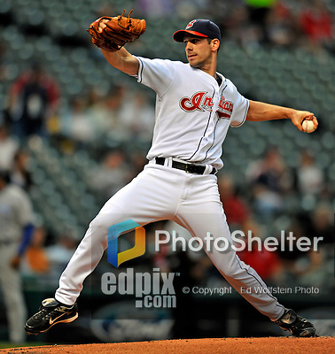12 September 2008: Kansas City Royals' starting pitcher Cliff Lee on the mound winning his Major League-leading 22nd game against the Kansas City Royals at Progressive Field in Cleveland, Ohio. The Indians defeated the Royals 12-5 in the first game of their 4-game series...Mandatory Photo Credit: Ed Wolfstein Photo