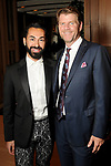 Fady Armanious and Bill Baldwin at the Recipe for Success' Delicious Alchemy Dinner at the home of Becca Cason Thrash Wednesday April 19,2017.(Dave Rossman Photo)