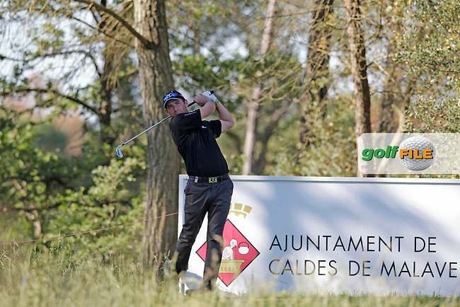 Peter Whiteford (SCO) tees off the 2nd tee during Thursday's Round 1 of the 2014 Open de Espana held at the PGA Catalunya Resort, Girona, Spain. Wednesday 15th May 2014.<br /> Picture: Eoin Clarke www.golffile.ie