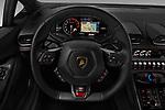 Car pictures of steering wheel view of a 2017 Lamborghini Huracan 580 2 Door Coupe Steering Wheel