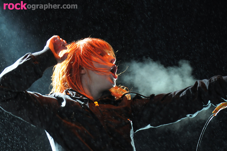 Lead vocalist Hayley Williams from Tennessee rockers Paramore performs at Bamboozle 08 at Meadowlands NJ