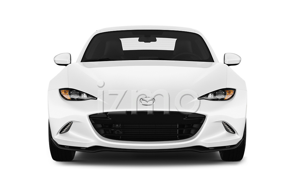 Car photography straight front view of a 2017 Mazda MX-5 RF First Edition 2 Door Targa