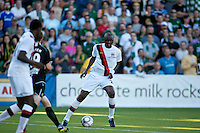 Manchester City's Patrick Vieira during a match at Merlo Field in Portland Oregon on July 17, 2010.