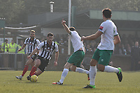 Pat Hoban of Grimsby Town on the attack during the FA Trophy Semi Final first leg match between Bognor Regis and Grimsby Town at Nyewood Lane, Bognor Regis, England on 12 March 2016. Photo by Paul Paxford/PRiME Media Images.