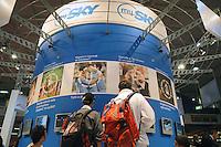 - SMAU, international exibition of electronics, computer and technological innovation, stand of digital broadcasting television Sky TV..- SMAU, salone internazionale dell'elettronica, informatica e innovazione tecnologica, stand della emittente televisiva digitale via satellite Sky TV