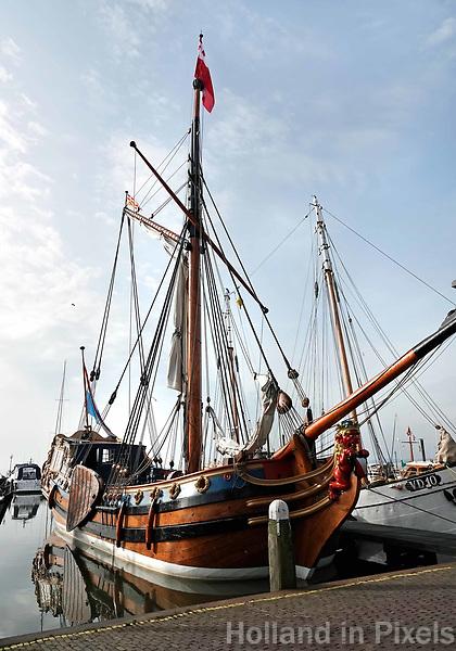 Nederland - Volendam - 2018.  Statenjacht De Utrecht in de haven van Volendam.   Foto Berlinda van Dam / Hollandse Hoogte