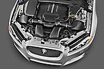 High angle engine detail of a 2012 Jaguar XF Portfolio