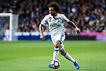 Marcelo Vieira of Real Madrid during the match of Spanish La Liga between Real Madrid and Real Betis at  Santiago Bernabeu Stadium in Madrid, Spain. March 12, 2017. (ALTERPHOTOS / Rodrigo Jimenez)