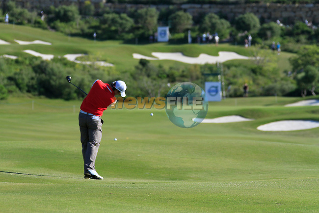Rory McIlroy (N.IRL) plays his 2nd shot on the 5th hole during the morning session on Day 3 of the Volvo World Match Play Championship in Finca Cortesin, Casares, Spain, 21st May 2011. (Photo Eoin Clarke/Golffile 2011)