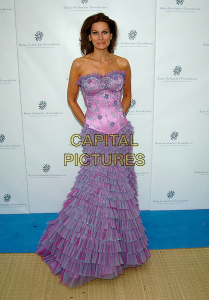 ISABELLA KRISTENSEN.Raisa Gorbachev Foundation Launch Party, Althrop, Northamptonshire, England,.10th June 2006..full length isabelle strapless purple lilac dress ruffle ruffles .Ref: PL.www.capitalpictures.com.sales@capitalpictures.com.©Capital Pictures